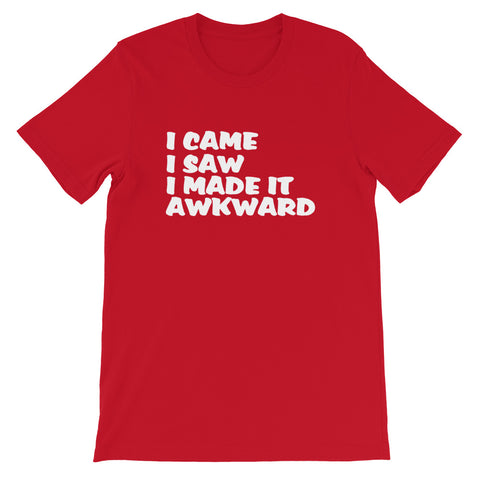 Image of I Came I Saw Short-Sleeve Unisex T-Shirt