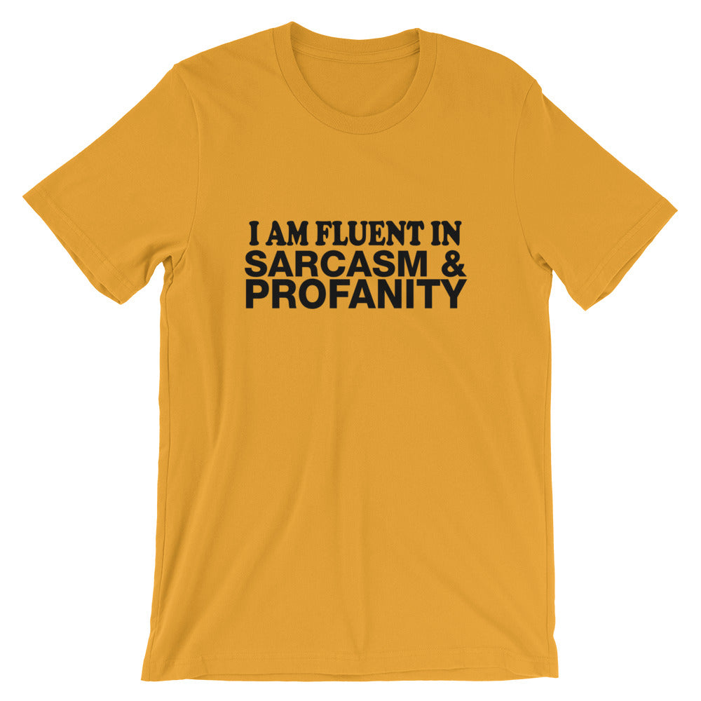 Fluent In Sarcasm Short-Sleeve Unisex T-Shirt