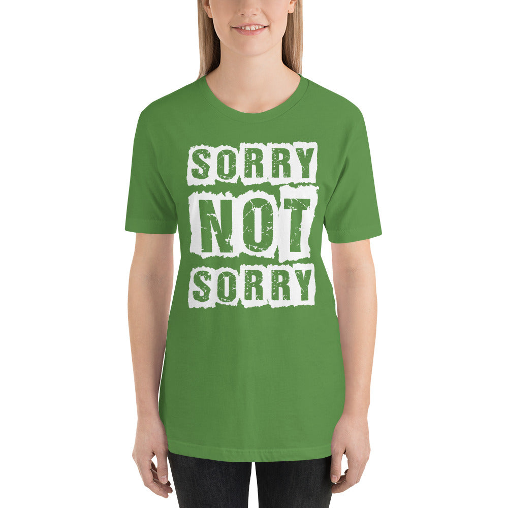 Sorry Not Sorry Short-Sleeve Women T-Shirt