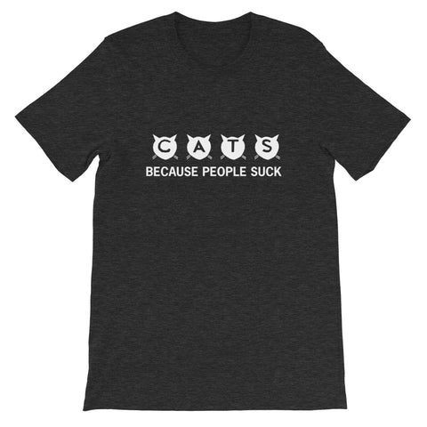 Image of Cats Because People Short-Sleeve Unisex T-Shirt