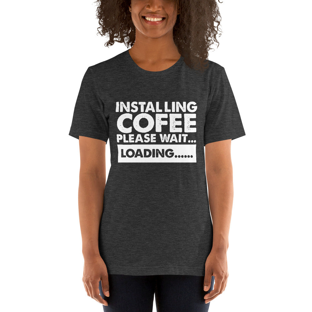 Installing Coffee Short-Sleeve Women T-Shirt