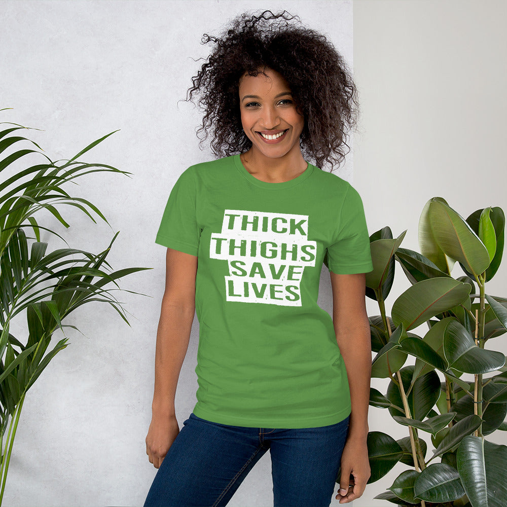 Thick Thighs Save Lives Short-Sleeve Women T-Shirt