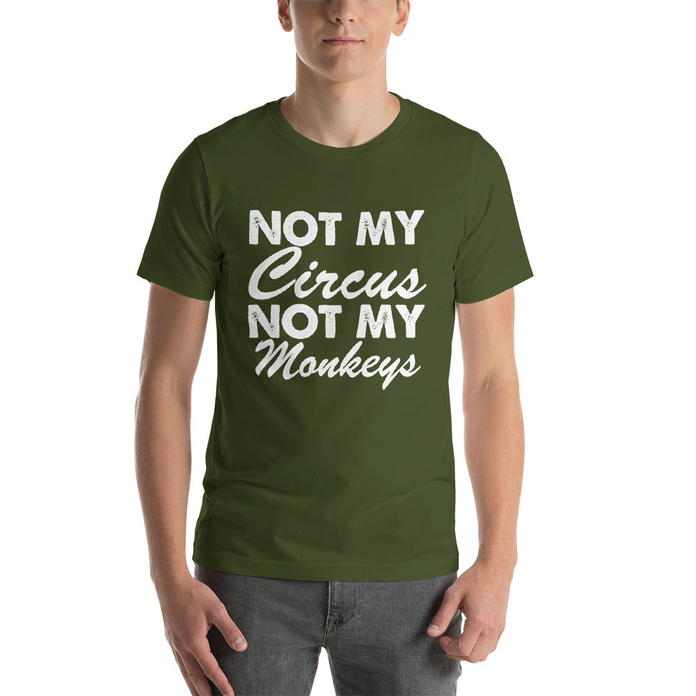 Not My Monkeys Short-Sleeve Unisex T-Shirt