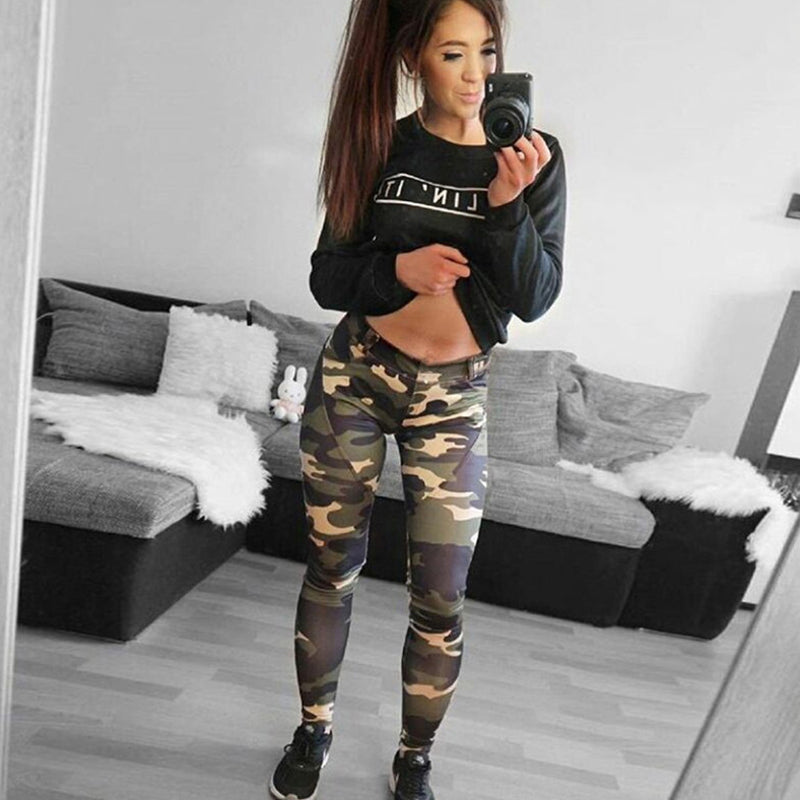 Camouflage High Waist Push Up Fitness Leggings