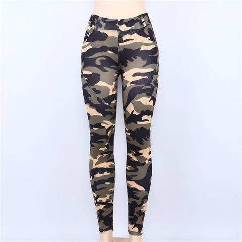 Image of Camouflage High Waist Push Up Fitness Leggings