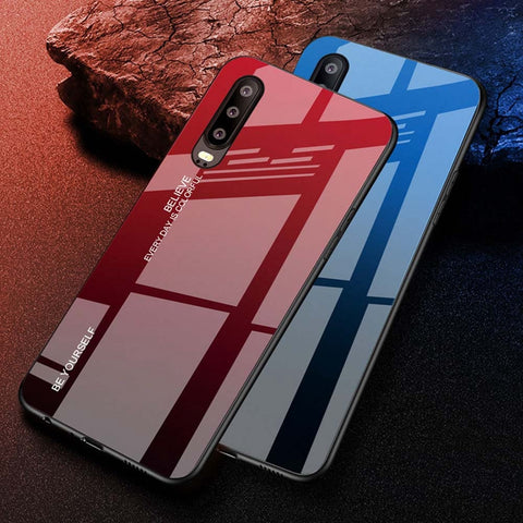 ColorFul Tempered Glass Huawei Phone Case