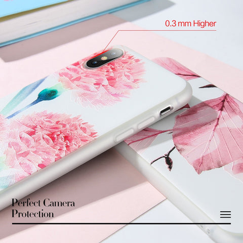 Embossed Floral Huawei Phone Case