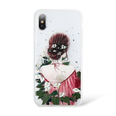 Image of Embossed Floral Huawei Phone Case