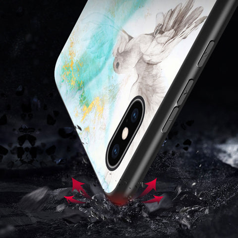 Luxury Glass Marble Huawei Phone Case