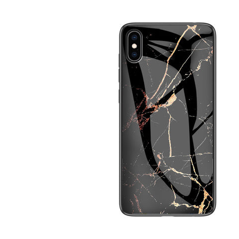 Image of Luxury Glass Marble Huawei Phone Case