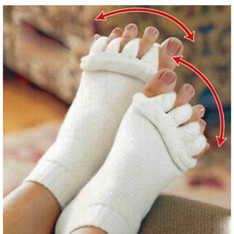 1Pair Foot Massager Socks Finger Separator Massage Sleeping Health Foot