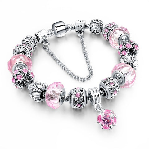 Image of Crystal Ball Charm Bracelet