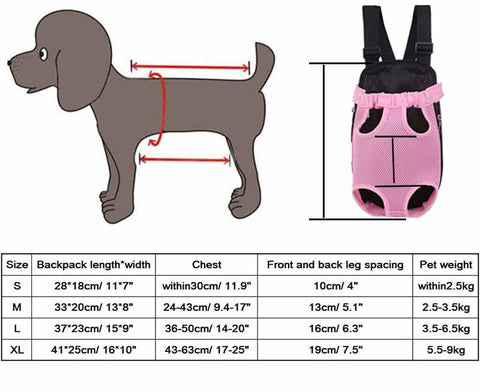 Image of Pet Carrier Dog Front Chest Backpack