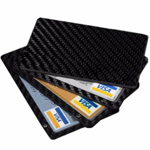 Image of Real Carbon Fiber Magnetic Card Holder Wallet - 4 Layer