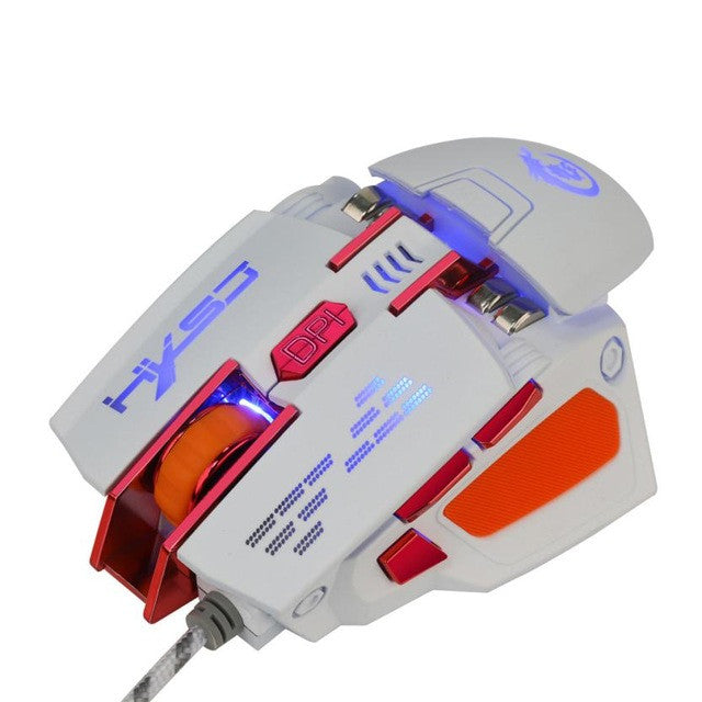 Wired Gaming Optical Positioning 7 Button 4000 DPI Glowing Mechanical Mouse