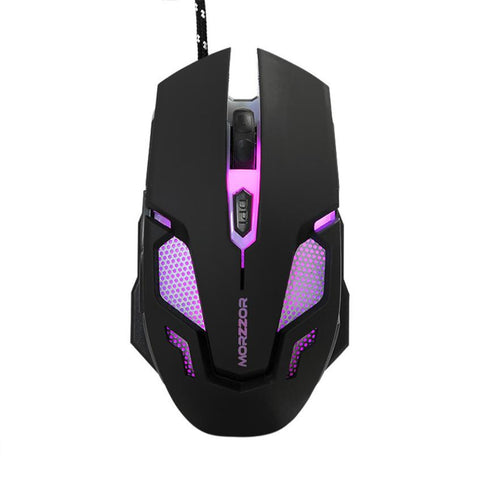 Image of Wired Optical Positioning Gaming 2400 DPI 6 Button LED Glowing Mouse