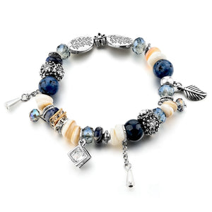 Mixed Crystal Charm Bracelet