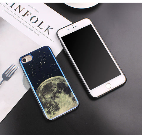 Image of Apple iPhone 6 and 6S Electroplate Moon Soft TPU Cell Phone Protective Cover Case