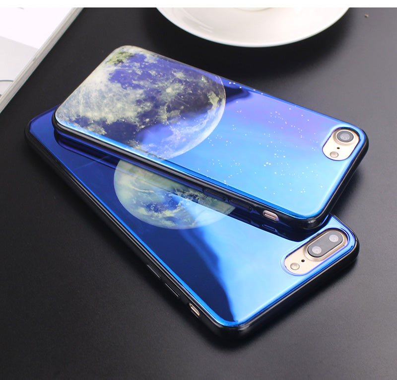 Apple iPhone 6 Plus and 6S Plus Electroplate Moon Soft TPU Cell Phone Protective Cover Case