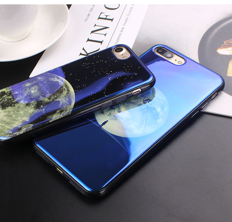 Image of Apple iPhone 6 Plus and 6S Plus Electroplate Moon Soft TPU Cell Phone Protective Cover Case