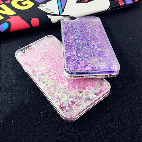 Image of Apple iPhone 6 Plus and 6S Plus Dynamic Liquid Glitter Soft TPU Cell Phone Protective Case Cover
