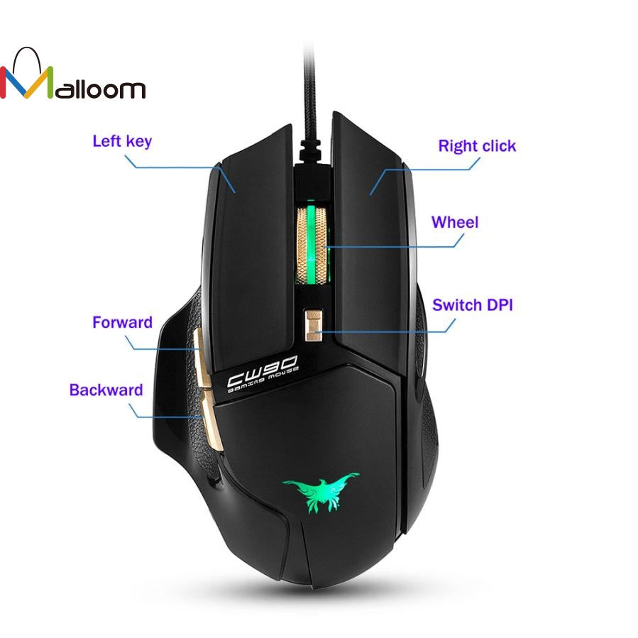 Wired Gaming Optical Positioning 3800 DPI 6 Button Mouse