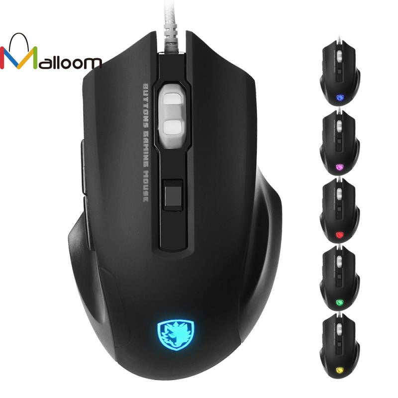 Wired Gaming Optical Positioning 6 Buttons 2500 DPI Mouse LED Glowing Mouse