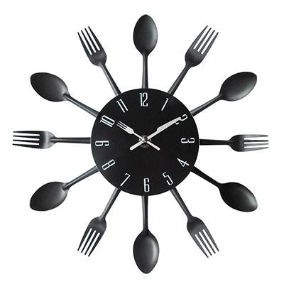 Image of Spoon Fork Creative Quartz Wall Mounted Clock