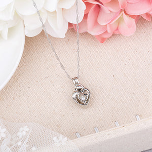 Light Blue Glow In The Dark Hollow Heart Shape Pendant Necklace