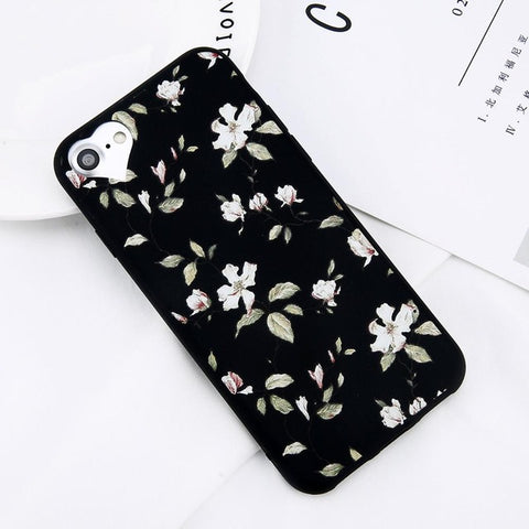 Image of Apple iPhone 5, 5S and SE Beautiful Flower Soft TPU Slim Cell Phone Case Cover