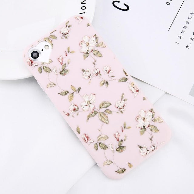 Apple iPhone 6 and 6S Beautiful Flower Soft TPU Slim Cell Phone Case Cover
