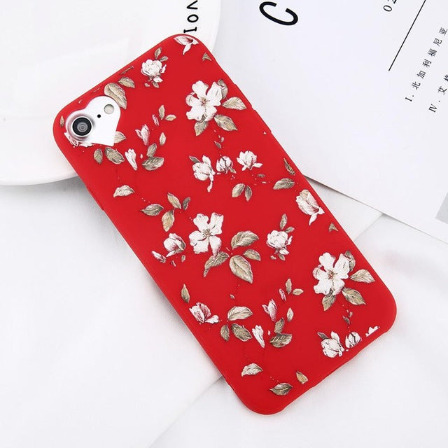 Apple iPhone 8 Beautiful Flower Soft TPU Slim Cell Phone Case Cover