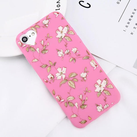 Image of Apple iPhone 8 Beautiful Flower Soft TPU Slim Cell Phone Case Cover