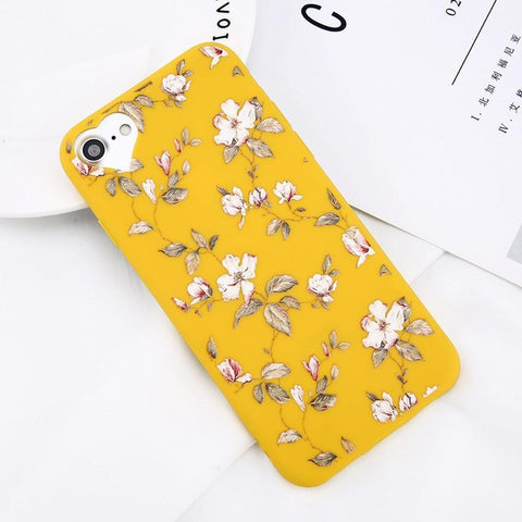 Image of Apple iPhone 6 and 6S Beautiful Flower Soft TPU Slim Cell Phone Case Cover