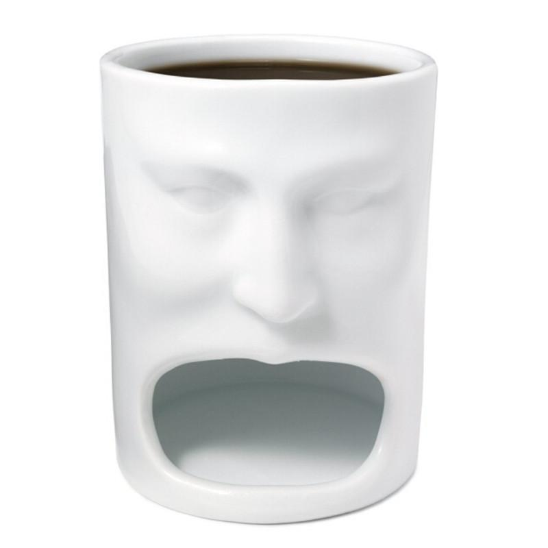 Face Shape Ceramic Coffee Cup Mug