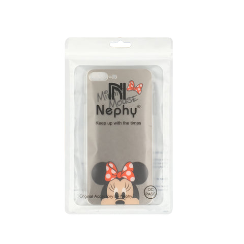 Image of Apple iPhone 6 Plus and 6S Plus Mickey Minnie Mirror Cover Soft TPU Cell Phone Case Cover