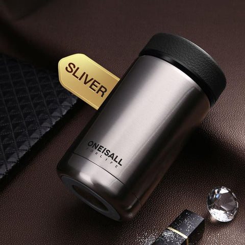 Image of 400ML Men Gift Thermos Cup Insulated Stainless Steel Thermo Mug with Tea Infuser