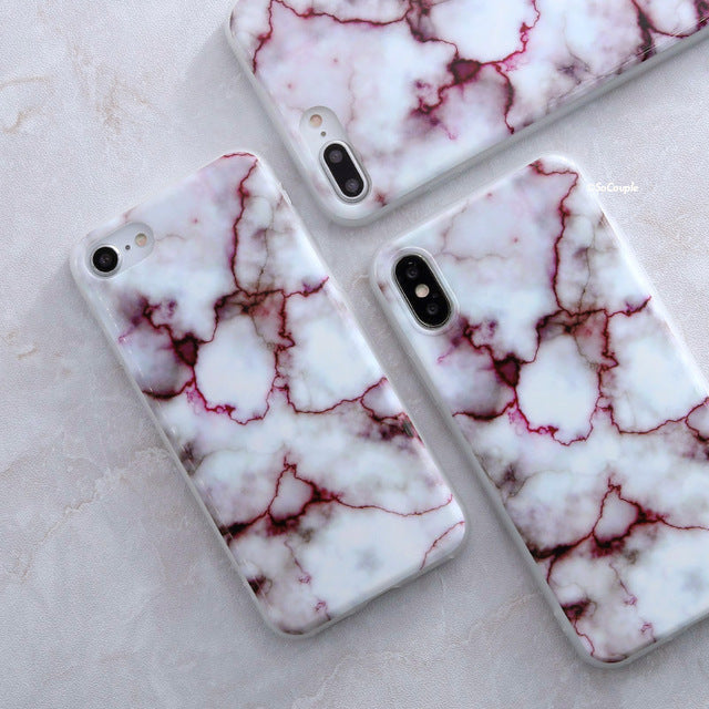 Apple iPhone 7 Granite Marble Stone soft TPU Cell Phone Case Cover