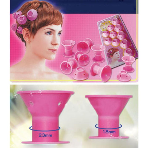 Image of SILICONE, NO-HEAT HAIR CURLERS