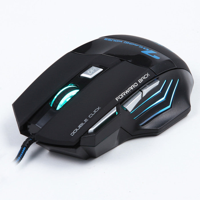 Wired Optical Positioning 3200 DPI 7 Button LED Glowing Mouse