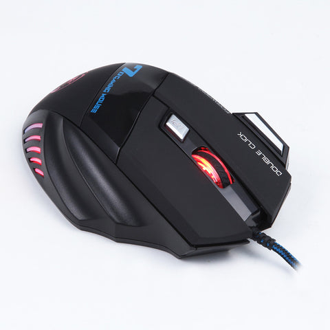 Image of Wired Optical Positioning 3200 DPI 7 Button LED Glowing Mouse