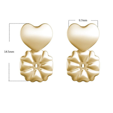 Image of 18K Gold Hypoallergenic Support Earring Backs 2