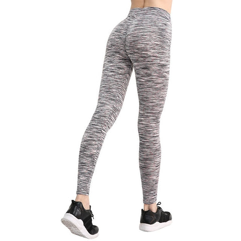 Image of Solid High Waist Push Up Fitness Leggings