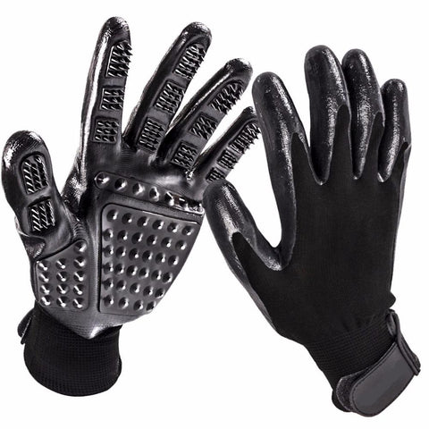 Image of Pet Grooming Gloves for Cats, Dogs & Horses - 1 Pair