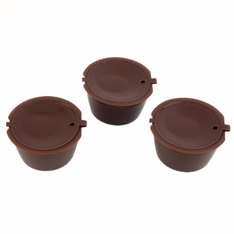 Image of Reusable Compatible Rechargeable Plastic Coffee Filter Baskets