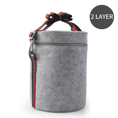 Image of Stainless Steel Compartment Lunch Box