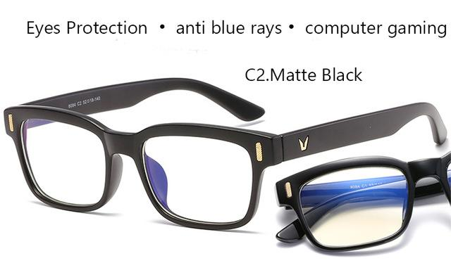 Scratch Proof Crystal Clear Computer & Gaming Glasses with 100 % UV Protection
