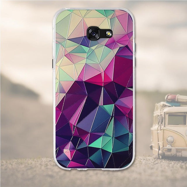 Abstract Samsung Galaxy A5 2017 Cell Phone Protective Case Cover