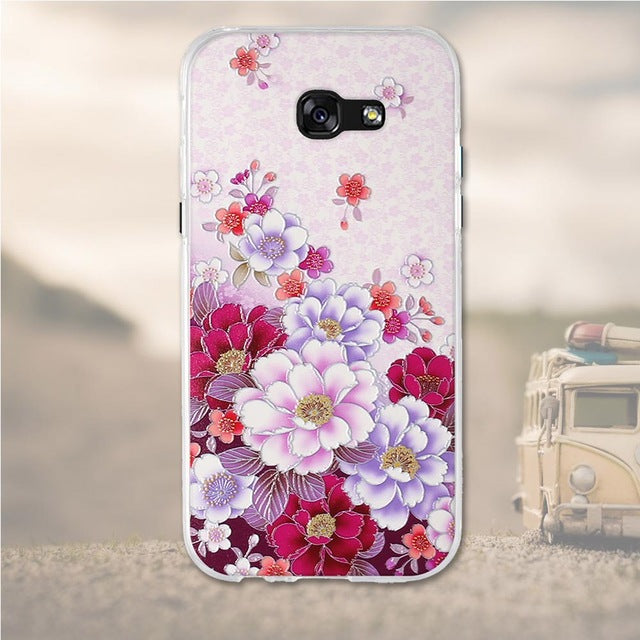 Bundle Of Flowers Samsung Galaxy A7 2017 Cell Phone Protective Case Cover