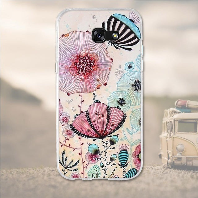 Multicolored Flowers Samsung Galaxy A5 2017 Cell Phone Protective Case Cover